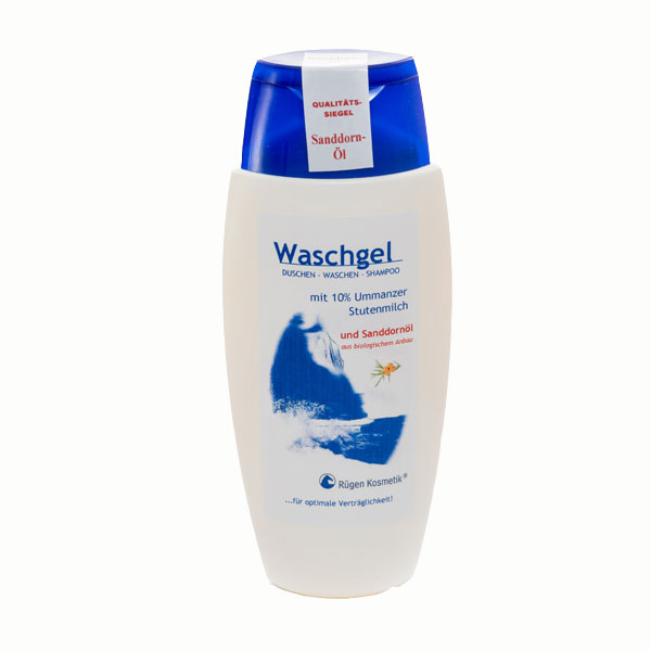 Waschgel mit 10% Stutenmilch und Sanddornöl von Rügen Kosmetik auf Ummanz