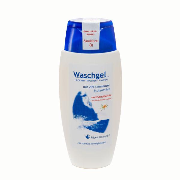 Waschgel mit 20% Stutenmilch und Sanddornöl von Rügen Kosmetik auf Ummanz
